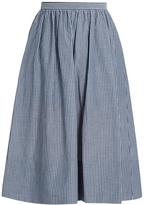 Vince Striped cotton skirt