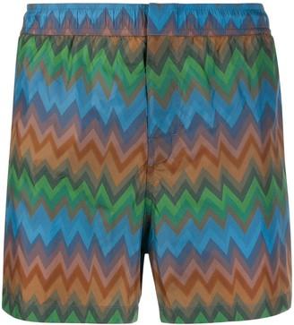 Missoni Mare Zig-Zag Pattern Swim Shorts
