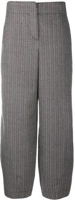 Emporio Armani Wide Stitched Stripe Trousers
