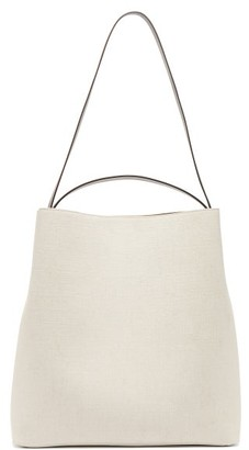 Aesther Ekme - Sac Canvas And Leather Tote Bag - Womens - White