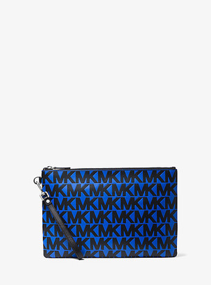 Michael Kors Logo-Embossed Leather Travel Pouch