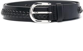 Isabel Marant Woven-Detail Leather Belt