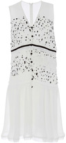 Carven Georgette Printed Sleeveless Dress