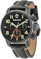 Timberland Men's Moringa Black Leather Strap Watch 46x54mm TBL14783JSQ02