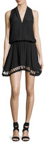 Ramy Brook Hunter Sleeveless V-Neck Dress, Black
