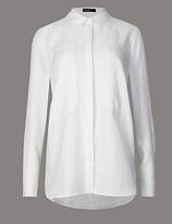 Autograph Pure Linen Long Sleeve Shirt