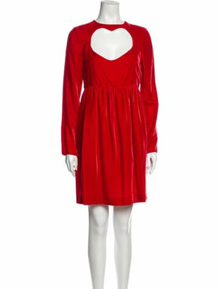 Chloé Crew Neck Mini Dress w/ Tags Red