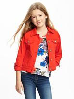 Old Navy Classic Pop-Color Twill Trucker Jacket for Girls