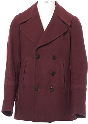 Burberry Burgundy Wool Coat for Women