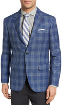 Moods of Norway Sol Trim Fit Plaid Wool Blend Sport Coat