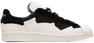 Y-3 black and white Super Takusan suede and canvas low top sneakers