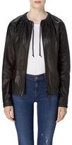 J Brand Baez Bomber In Black Leather