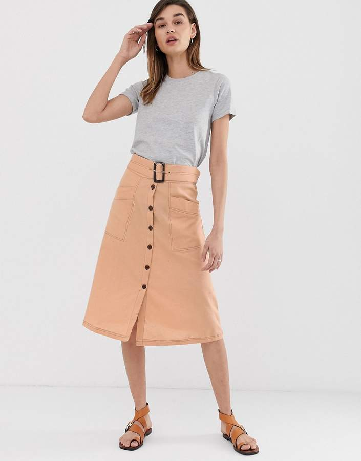 a68ae092d Contrast Stitch Skirt - ShopStyle