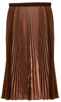 Etienne Aigner Crystal Pleated Skirt
