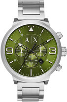 Armani Exchange A|X Men's Chronograph Stainless Steel Bracelet Watch 49mm AX1370