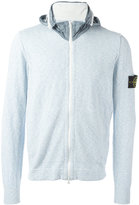 Stone Island logo patch hoodie - men - Cotton/Polyamide - XL