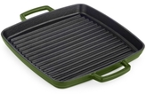 "Martha Stewart Collection Martha Stewart Collection 11"" Enameled Cast Iron Grill Pan"