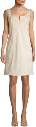 Lafayette 148 New York Sleeveless Stretch Mini Dress