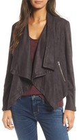 Cupcakes And Cashmere Women's Chyla Drape Front Faux Suede Jacket