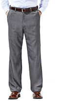 Haggar Cool 18 Heather Solid Pants - Classic Fit, Flat Front, Hidden Expandable Waistband
