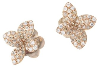 Pasquale Bruni Petit Garden 18K Rose Gold & Two-Tone Diamond Flower Stud Earrings