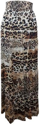 Just Cavalli Brown Silk Skirt for Women