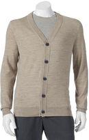Apt. 9 Big & Tall Modern-Fit Marled Merino Cardigan Sweater