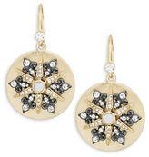 Nanette Lepore Disc Star Drop Earrings