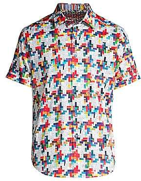 Robert Graham Men's Classic-Fit Ransom Note Short-Sleeve Shirt