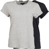Brave Soul Womens Eleanor Two Pack T-Shirt Black/Grey
