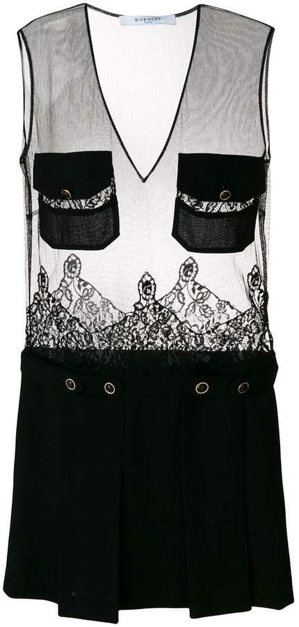 Givenchy sheer two style dress
