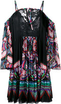 Roberto Cavalli printed pleated dress - women - Silk/Cotton/Polyester/Polyamide - 42