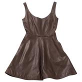 Chloé Brown Leather Dress