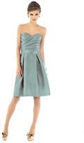 Alfred Sung D538 Bridesmaid Dress in Atlantis