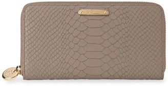 GiGi New York Large Zip Around Python Leather Wallet