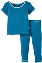 Kickee Pants Pajama Set (Baby) - Oasis - Preemie
