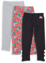Betsey Johnson Girl's Three-Pack Leggings