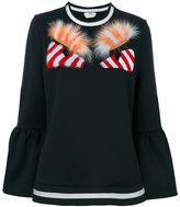 Fendi eyes sweater - women - Cotton/Polyamide - 38