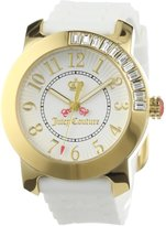 Juicy Couture 1900731 38mm Stainless Steel Case White Rubber Mineral Women's Watch