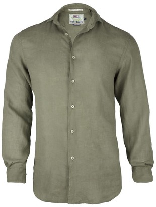 MC2 Saint Barth Solid Color Linen Shirt Mans Pamplona