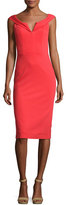 Alice + Olivia Sienna Off-the-Shoulder Sheath Dress, Bright Red