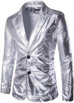 jeansian Men's Fashion Bronzing Jacket Blazer Suit Costumes 9514 M