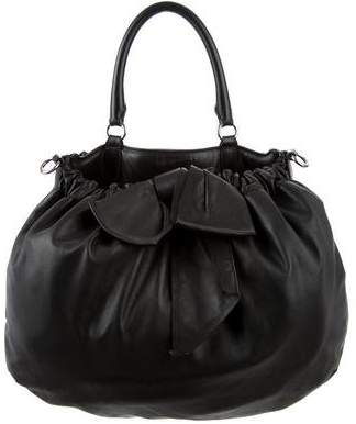 Valentino Leather Bow-Accented Bag