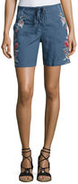 JWLA by Johnny Was Janelle Embroidered Linen Shorts, Plus Size