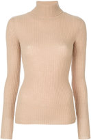 R 13 ribbed roll neck top - women - Cashmere - S