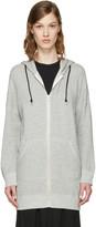 R 13 Grey Long Hoodie