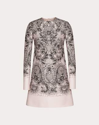 Valentino Lace Print Crepe Couture Dress Women Multicoloured 38
