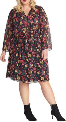 Rachel Roy Emma Twist Front Floral Dress (Plus Size)