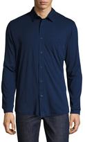 Onia Cameron Knit Button-Up Shirt