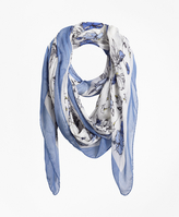 Brooks Brothers Floral Scarf